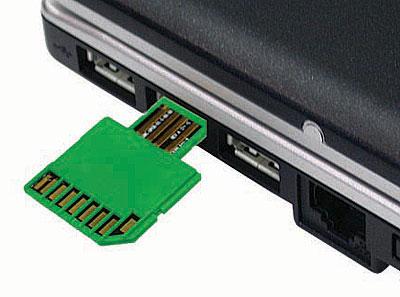 SD-card w USB