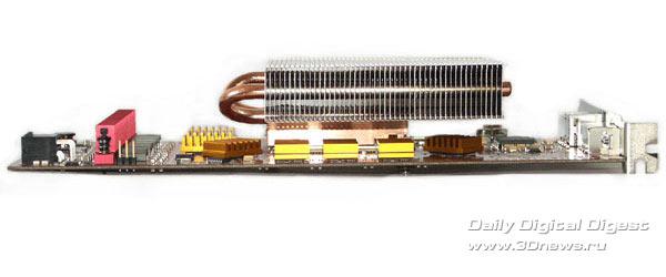 Видеокарта с радиатором вид сбоку side